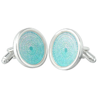 Ice Flower Mandala Cuff Links