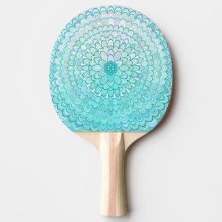 Ice Flower Mandala Ping Pong Paddle