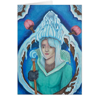 Ice Forest Queen Greeting Card