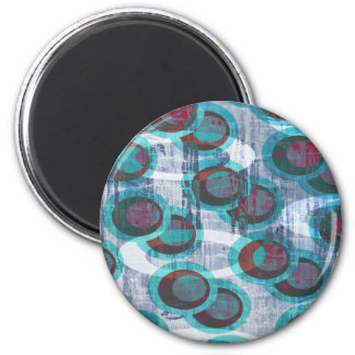 Ice Grunge Abstract Pattern Magnet