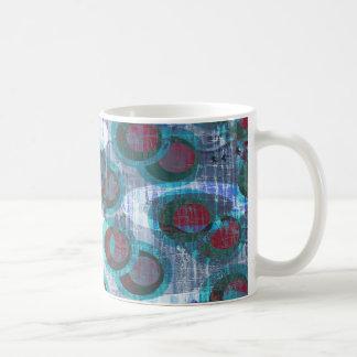 Ice Grunge Abstract Pattern Basic White Mug
