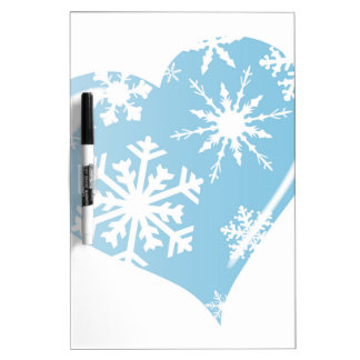 Ice Heart Dry Erase Boards
