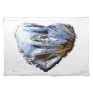 Ice Heart; No Text Placemat