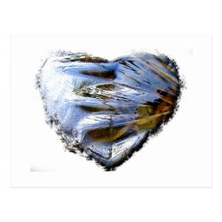 Ice Heart; No Text Postcard