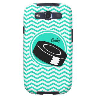 Ice Hockey Aqua Green Chevron Samsung Galaxy S3 Cover