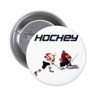 Ice Hockey Pinback Button