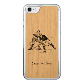 Ice hockey carved iPhone 7 case