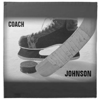 Ice Hockey Coach Thank You Napkin