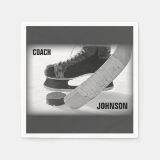 Ice Hockey Coach Thank You Paper Napkin