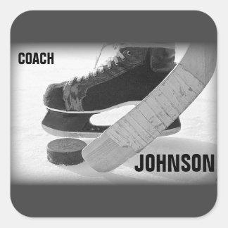 Ice Hockey Coach Thank You Square Sticker