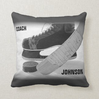 Ice Hockey Coach Thank You Throw Pillow