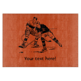 Ice hockey cutting board
