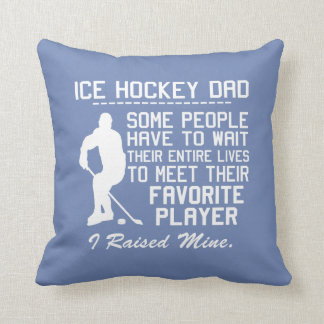 ICE HOCKEY DAD THROW PILLOW