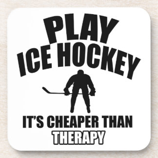 Ice hockey design coaster