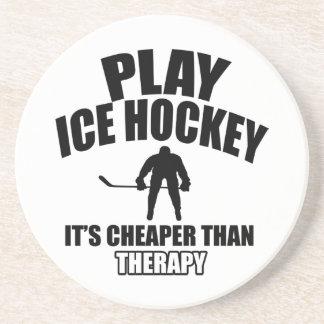Ice hockey design coaster