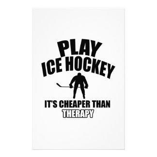 Ice hockey design custom stationery