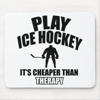 Ice hockey design mouse pad