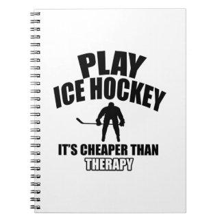 Ice hockey design notebook