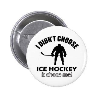 ice hockey designs 2 inch round button