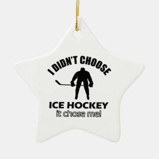 ice hockey designs ceramic ornament