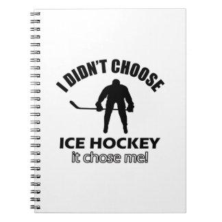 ice hockey designs notebook
