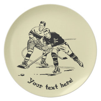 Ice hockey dinner plates