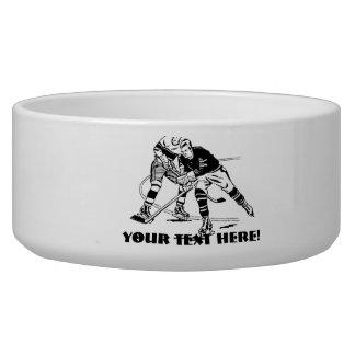 Ice hockey dog bowl