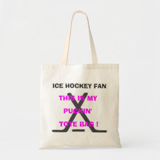 Ice Hockey Fan - This Is My Puckin' Tote Bag !