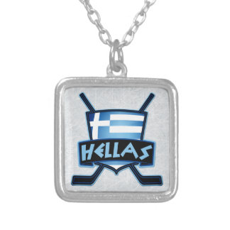 Ice Hockey Flag Logo Pendant
