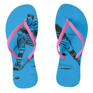 Ice hockey flip flops