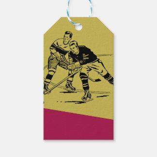 Ice hockey gift tags