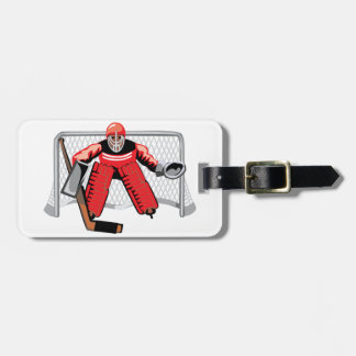 Ice Hockey Goalie Luggage Tags