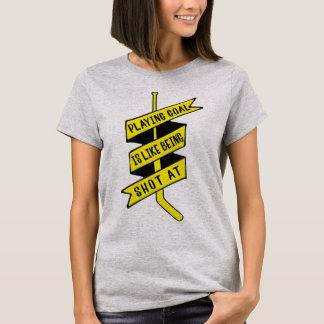 Ice Hockey Goalie Quote Tee Shirt