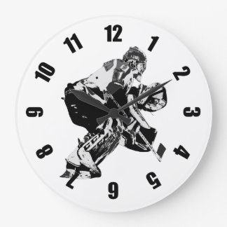 Ice Hockey Goalie - Winter Sports Large Clock
