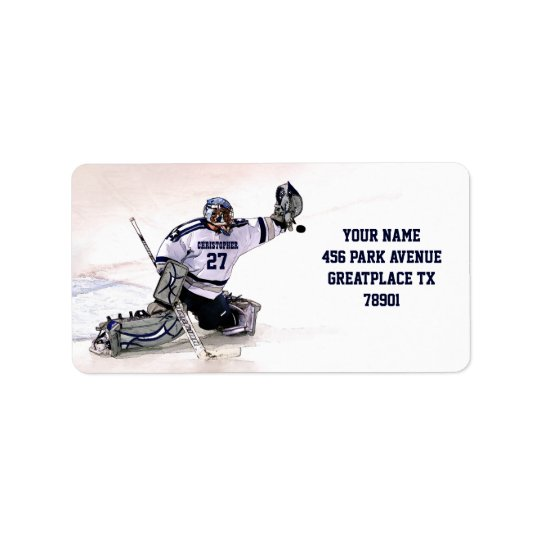 Ice Hockey Goalkeeper With Your Name Drawing