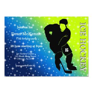 """Ice Hockey 5"""" X 7"""" Invitation Card"""