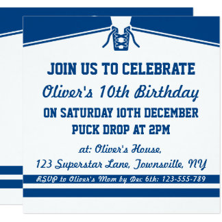 Hockey Birthday Invitations Announcements Zazzle Canada