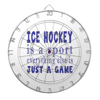 ICE HOCKEY JUST A GAME DART BOARD