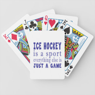 ICE HOCKEY JUST A GAME POKER DECK