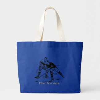 Ice hockey large tote bag