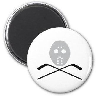 ice hockey mask and stick magnet