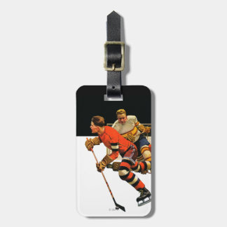 Ice Hockey Match Luggage Tag