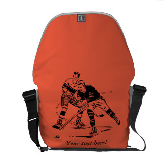 Ice hockey messenger bag