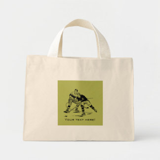 Ice hockey mini tote bag