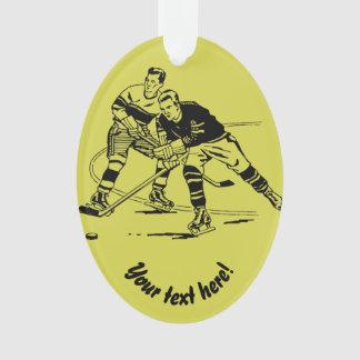 Ice hockey ornament