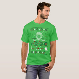 Ice Hockey Outdoors Ugly Christmas Sweater Tshirt
