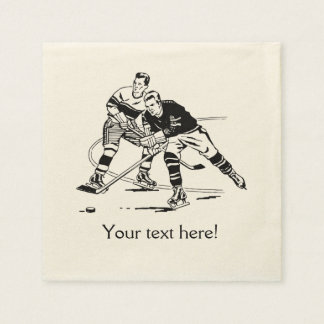 Ice hockey paper napkin