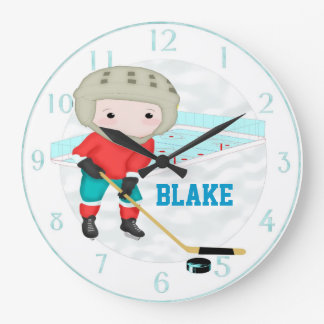 Ice Hockey Personalized Wall Clock