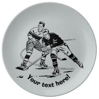 Ice hockey plate