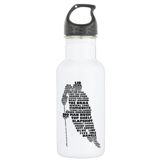 Ice Hockey Player 532 Ml Water Bottle